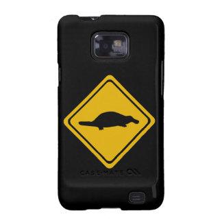 platypus road sign samsung galaxy s2 cases
