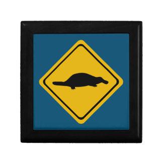 platypus road sign jewelry box