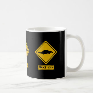 platypus road sign mugs