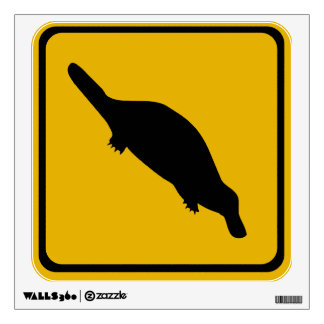 platypus road sign wall decal