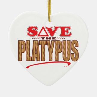 Platypus Save Ceramic Ornament
