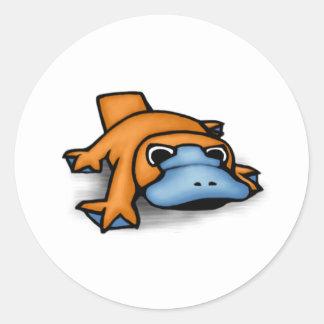 Platypus Round Stickers