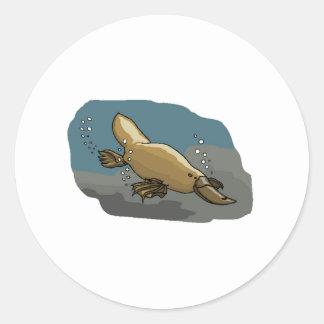 Platypus Underwater Stickers
