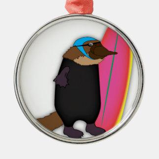 Platypus Wetsuit Metal Ornament