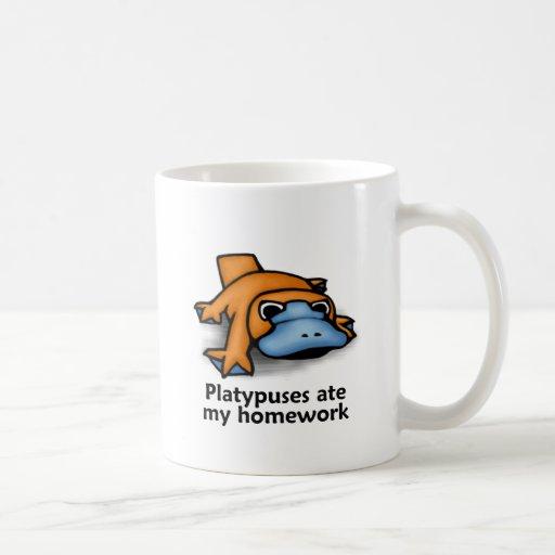 Platypuses ate my Homework Classic White Coffee Mug