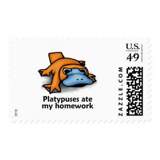 Platypuses ate my Homework Postage