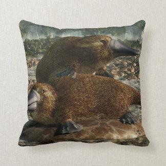 Platypuses Throw Pillows