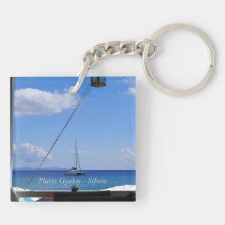 Platys Gyalos - Sifnos Double-Sided Square Acrylic Keychain