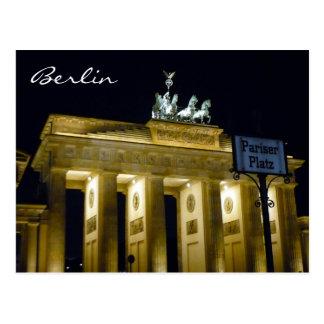 platz del pariser de Brandeburgo Tarjeta Postal
