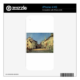 Platz in Argenteuil by Alfred Sisley iPhone 4 Decal