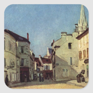 Platz in Argenteuil by Alfred Sisley Square Sticker