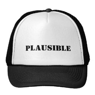 plausible trucker hat