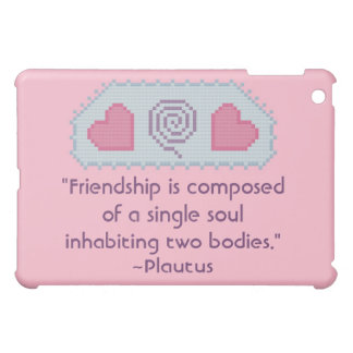 Plautus Friendship Quote iPad Mini Covers