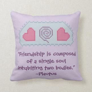 Plautus Friendship Quote Pillow