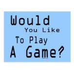 Play A Game Postcard