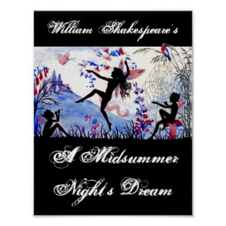 Play A Midsummer Night's Dream William Shakespeare Poster