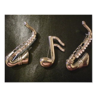 Play a musical note on that Saxaphone Card
