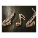 Play a musical note on that Saxaphone Custom Invites