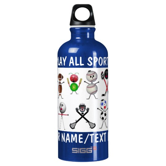 Play All Sports Cartoon Water Bottle