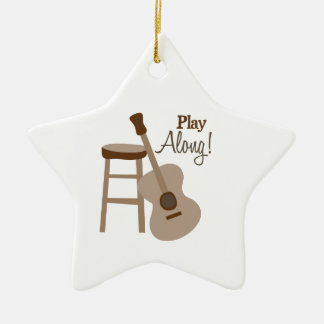 Play Along! Double-Sided Star Ceramic Christmas Ornament