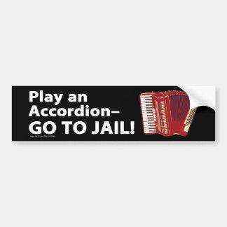 Play an accordion bumper sticker car bumper sticker