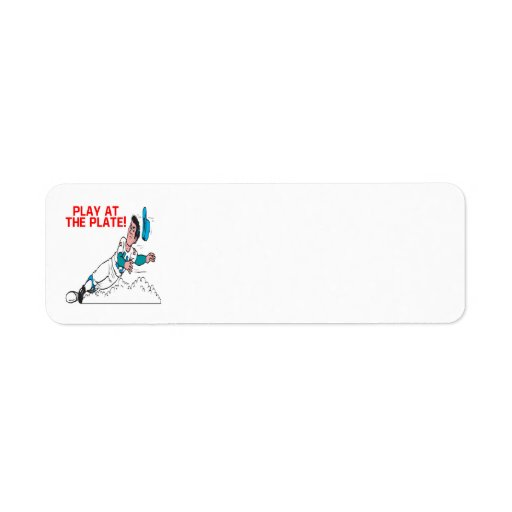 Play At The Plate Custom Return Address Labels