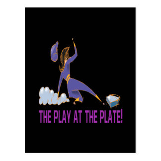 Play At The Plate Postcard