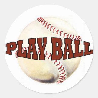 PLAY BALL #1 CLASSIC ROUND STICKER