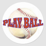 PLAY BALL 2 CLASSIC ROUND STICKER