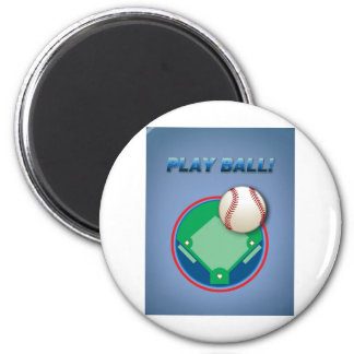 Play Ball! 2 Inch Round Magnet