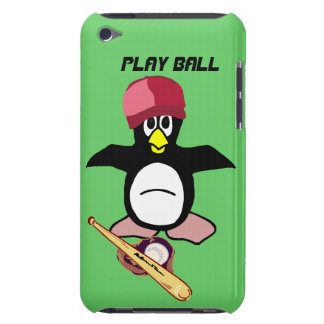 Play Ball a funny penguin baseball design iPod Touch Covers