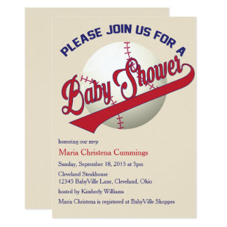 Play Ball Baseball Baby Shower Invitation