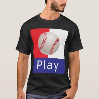 Play Ball Baseball Flag T-Shirt