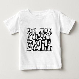 PLAY BALL, black Baby T-Shirt