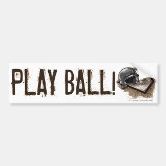 Play Ball! Bumpersticker Bumper Sticker