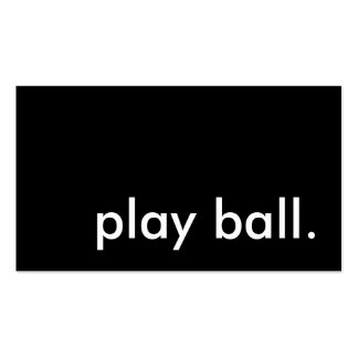 play ball. business card template