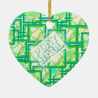Play Ball. Ceramic Ornament