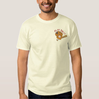 Play Ball Embroidered T-Shirt