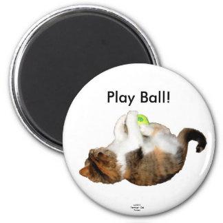 PLAY BALL KITTEN MAGNET