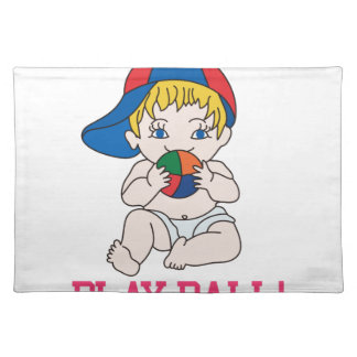 Play Ball! Cloth Place Mat