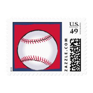 Play Ball Postage Stamp