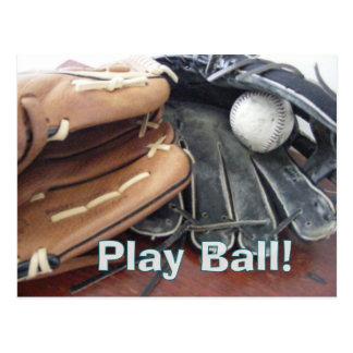 play ball postcard