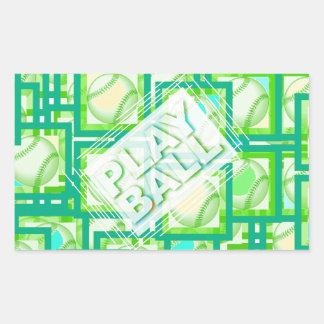 Play Ball. Rectangular Sticker