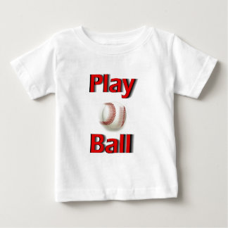 Play Ball Red Baby T-Shirt