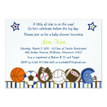Play Ball Sports Baby Shower Invitations