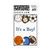 Play Ball Sports Ball Custom Postage Stamps