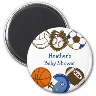 Play Ball Sports Ball Party Favor Magnets