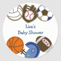 Play Ball Sports Balls Envelope Seals Stickers