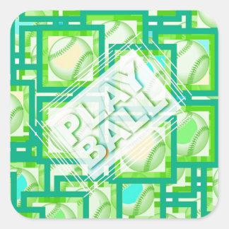 Play Ball. Square Sticker