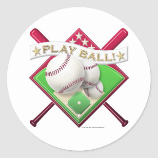 Play Ball! Classic Round Sticker